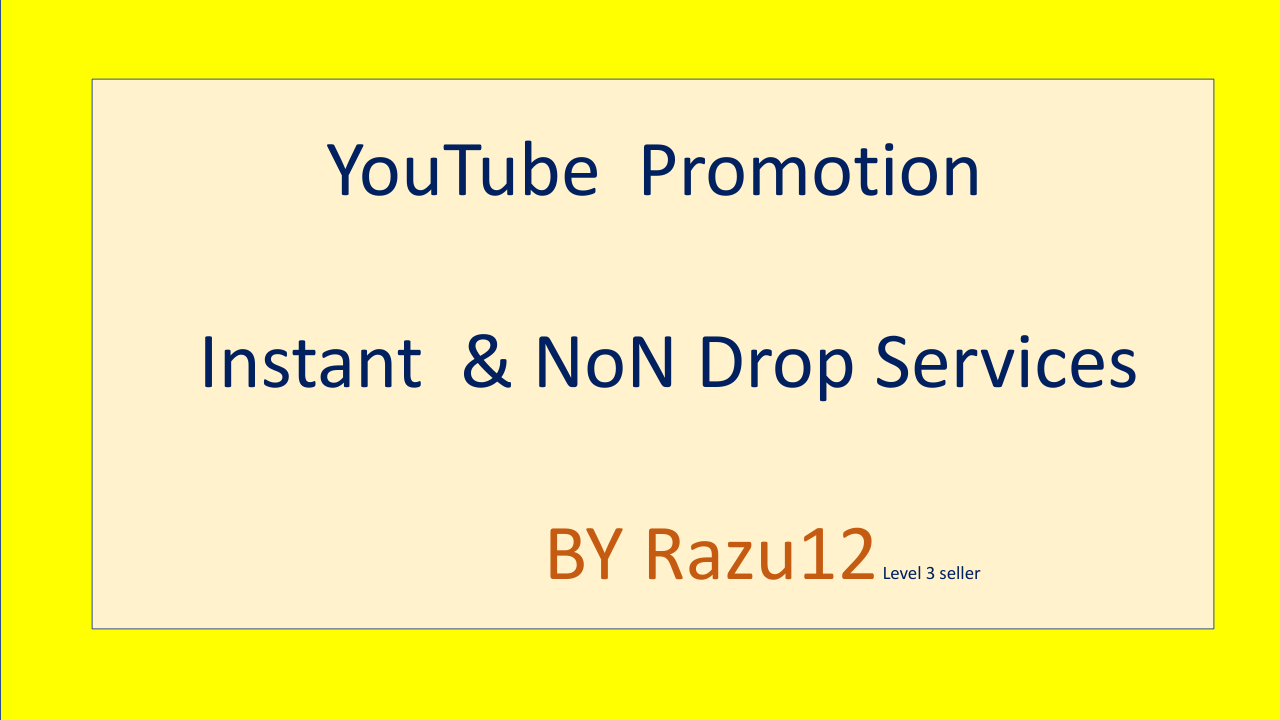 YouTube account & video promotion By Razu12