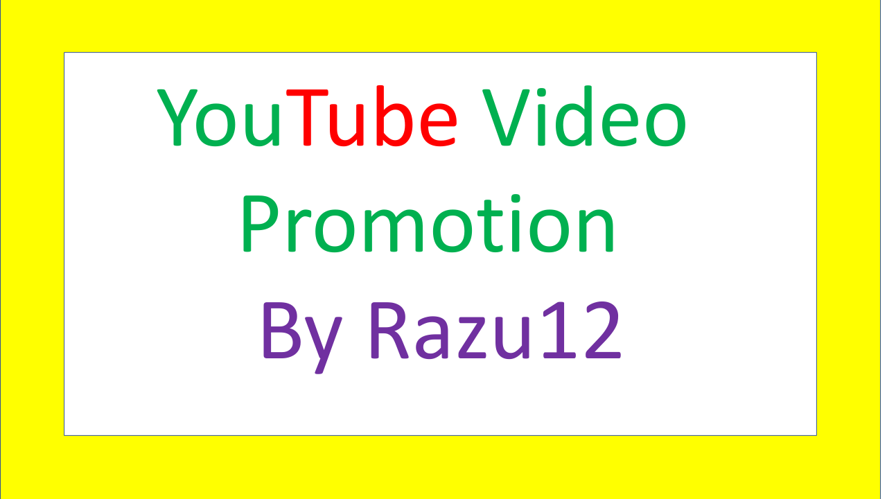 High Quality YouTube video promotion safe and fast