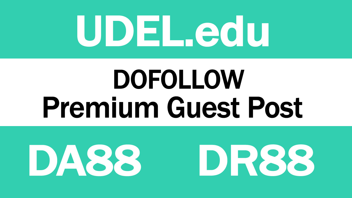 I Will write And Publish Guest Post On UDEL. edu DA88