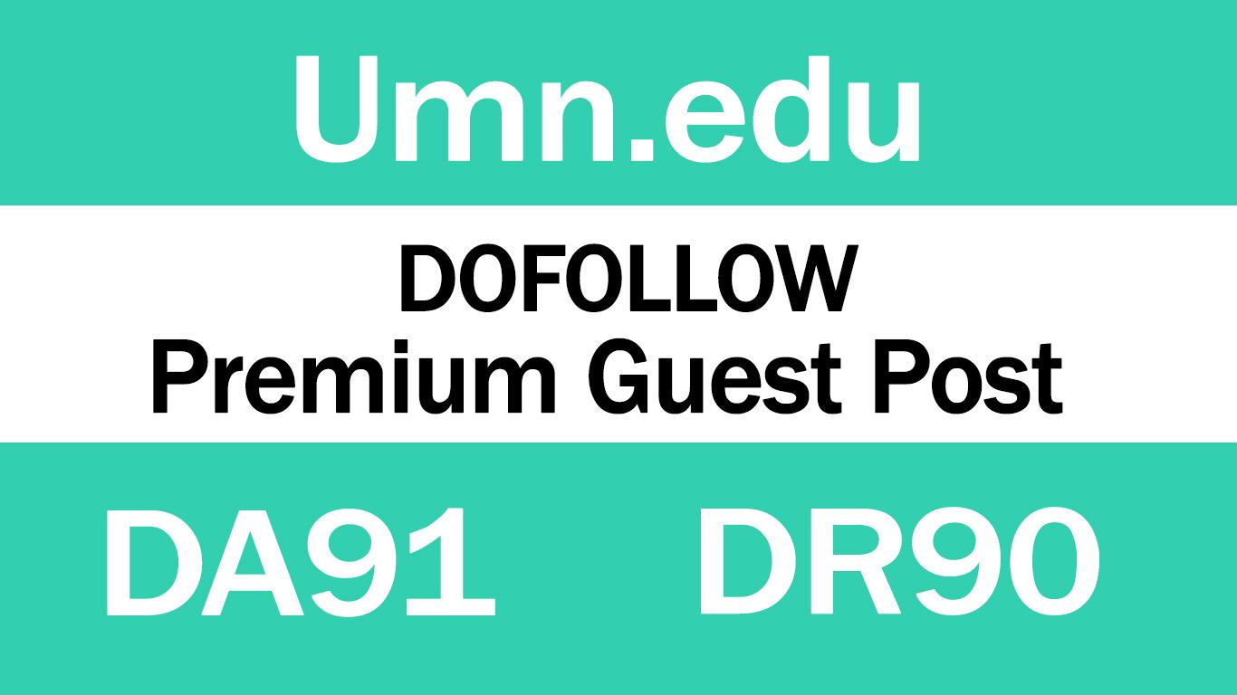 Guest Post on Minnesota University - Umn. edu - DA91