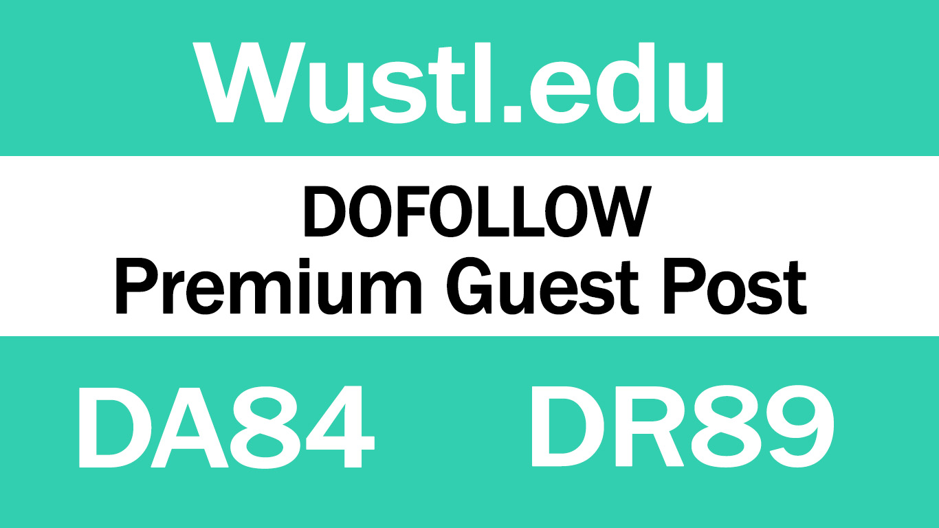 I Will write And Publish Guest Post On - Wusti. edu