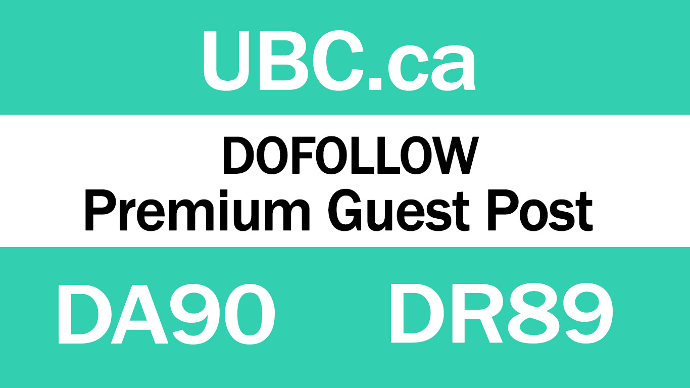 Guest Post on Top Website UBC. ca - DA90 DR89