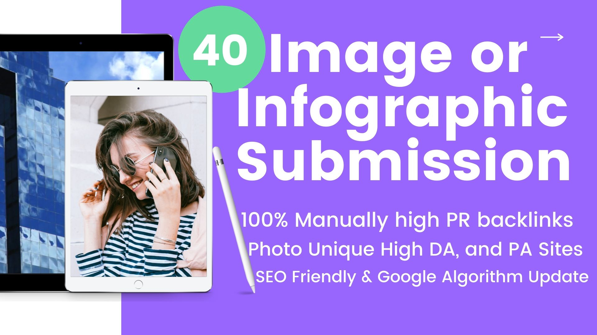 I will do 40 image or infographic submission on high quality sites
