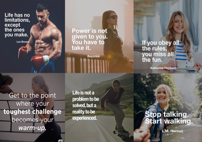 I will design motivational or inspirational quotes for social media