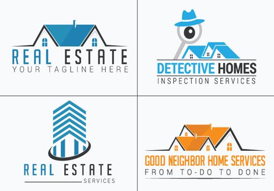 I will design real estate construction property logo