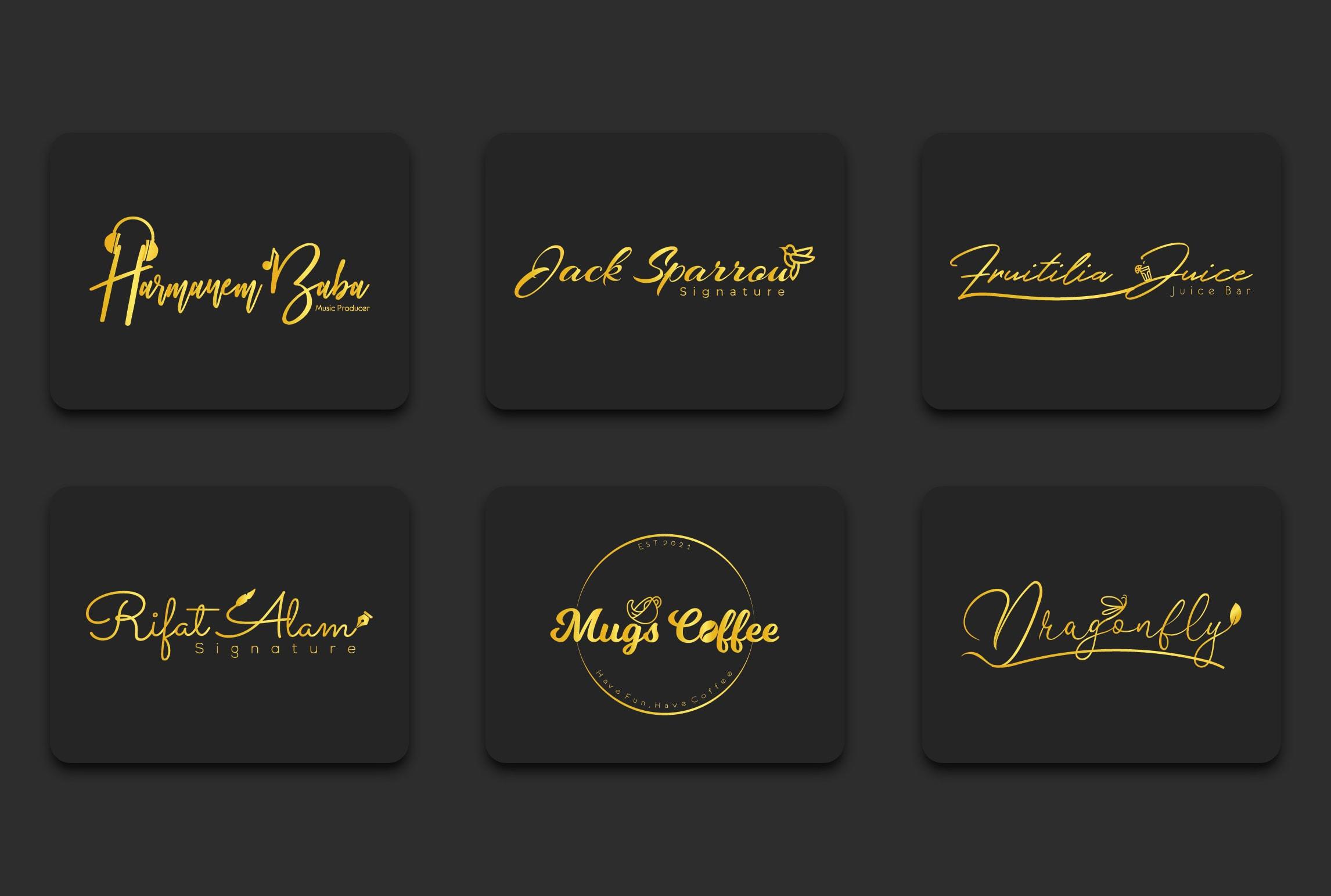 I will create signature logo or email signature
