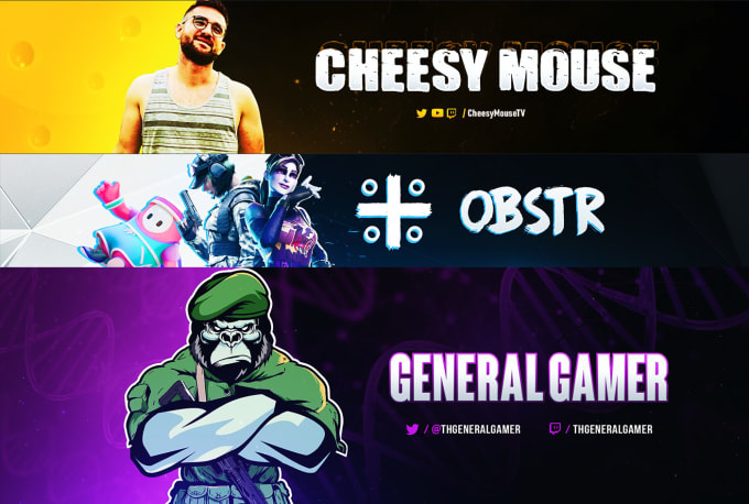 I will design YouTube banner and Facebook banner