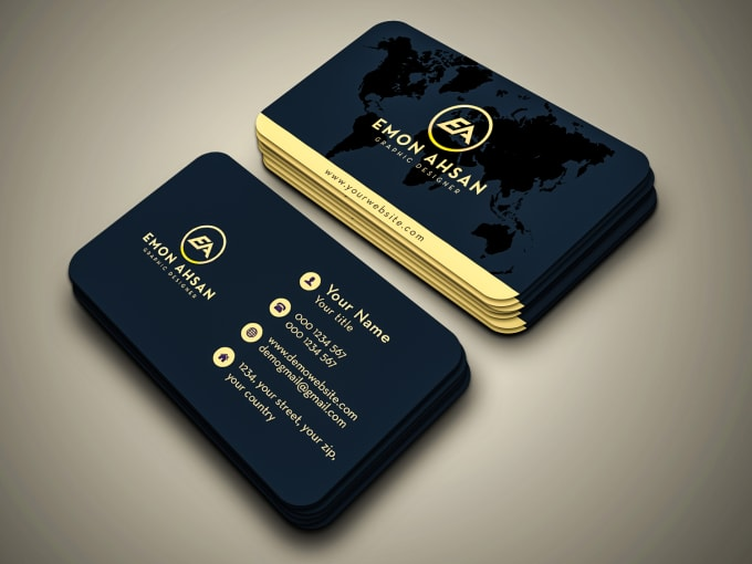 I will design minimalist business card in 24hrs