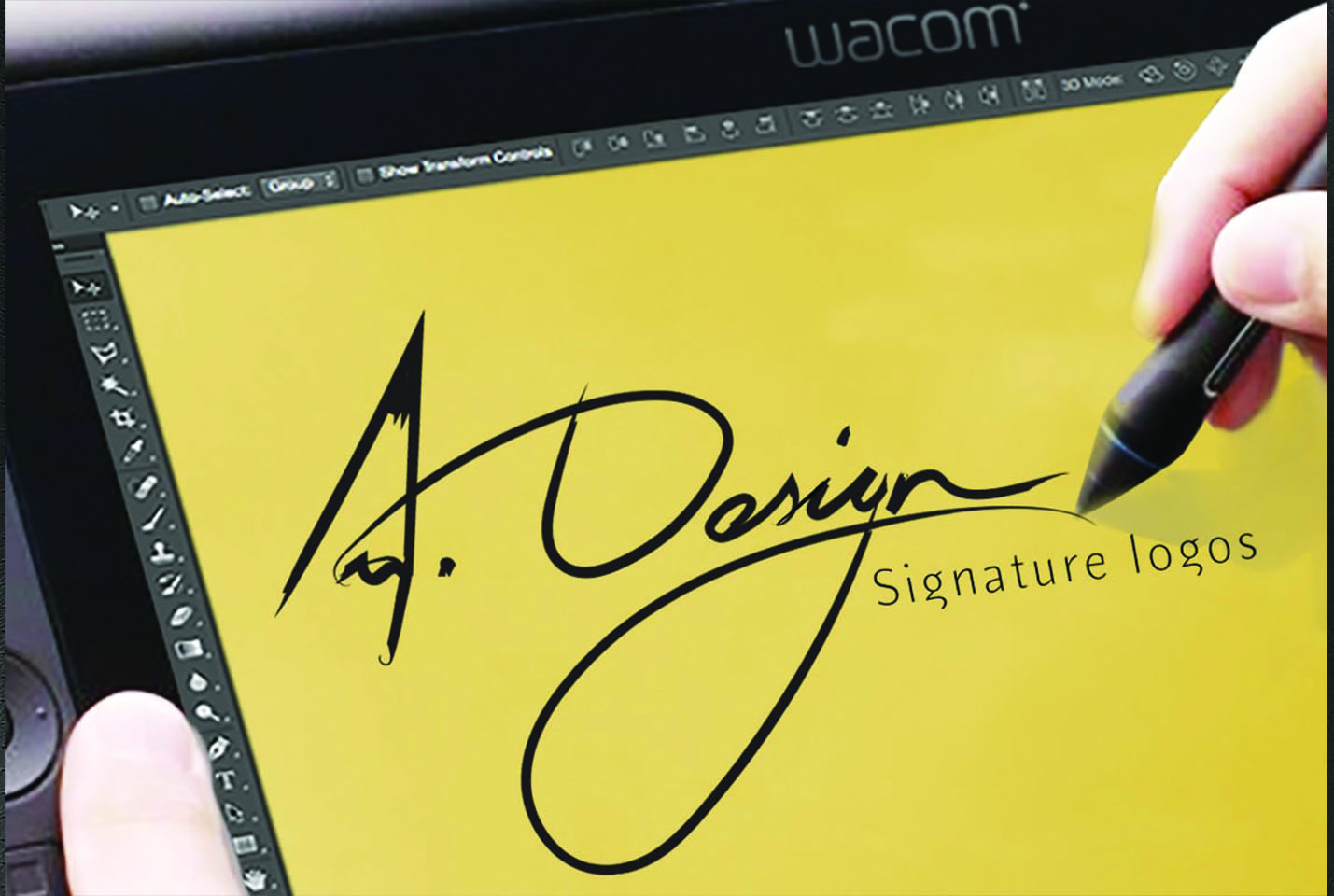 I will do modern and elegant signature logo design