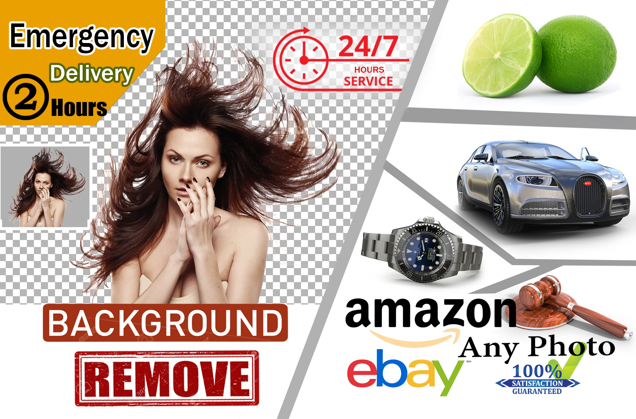 I will do 3 images background removal,  edit and fast delivery