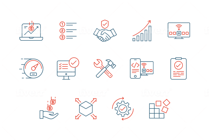 I will do your website trendy icon design