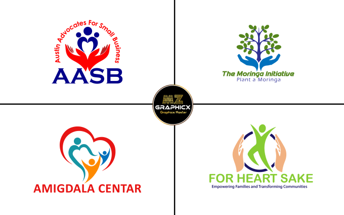 Design outstanding nonprofit,  community and charity logo 1 Simple Logo Designs + PNG + JPG + 3D Mock