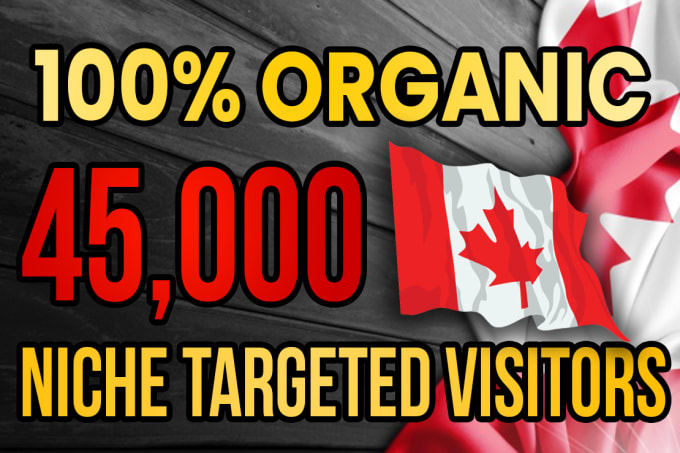 I will drive real Canada targeted web traffic 20K VISITORS