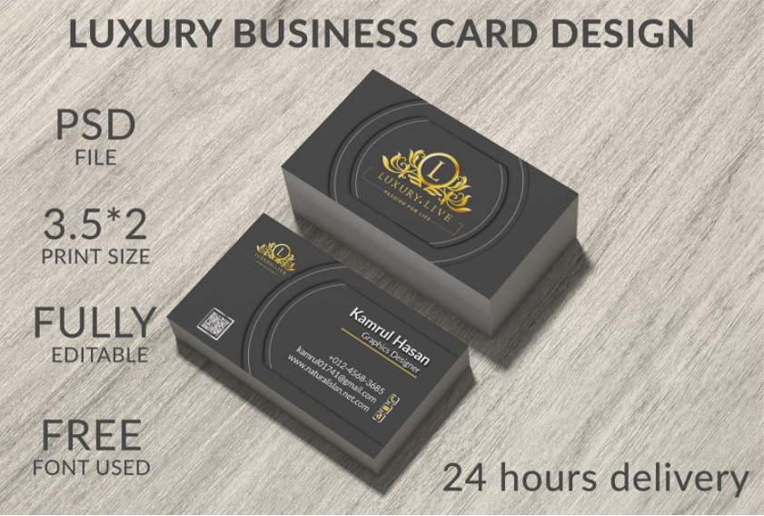 I will do luxury,  elegant and simple business card design