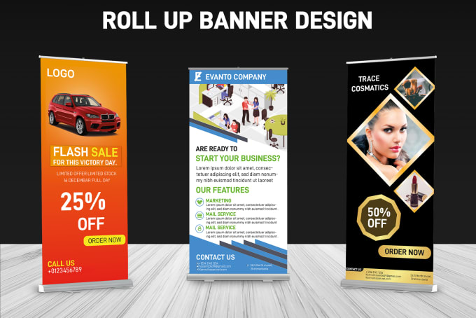 I will design roll up or stand banner and social media post or covers