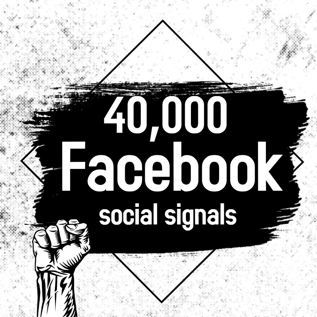 Powerful 40,000 Facebook Social Signals SEO Boost Google Ranking Bookmark Social