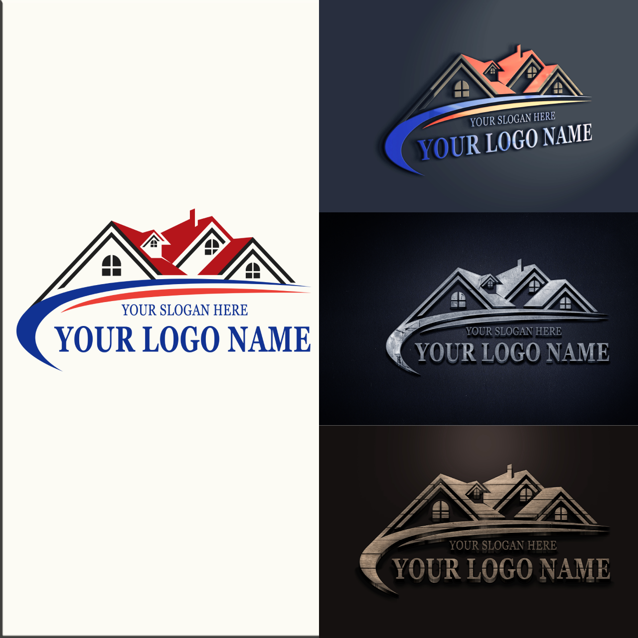 I will convert your transparent logo or text into 3D-MOCK UP design