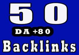 build 50 high quality authority backlinks da50 to da80