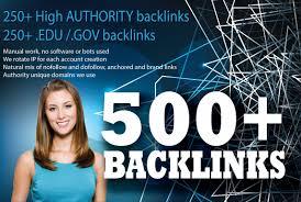 Do 500 high da quality backlinks edu gov sites manually