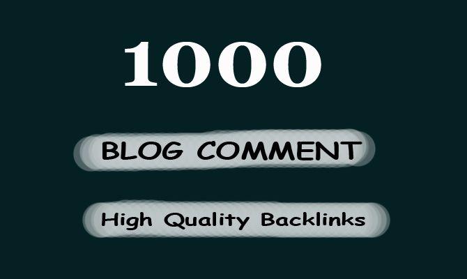 Create do 1000 high quality blog comments backlinks high da pa tf cf