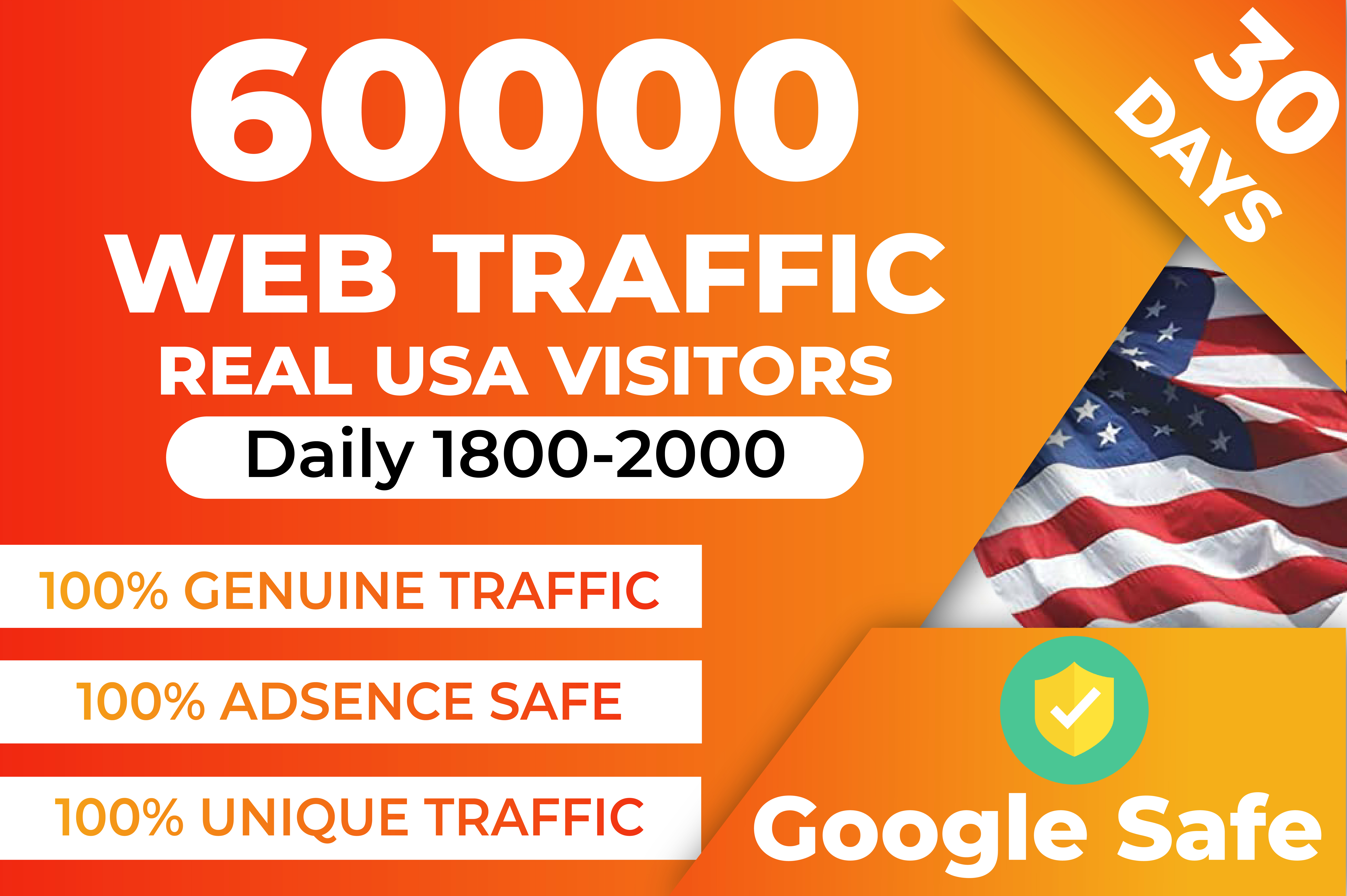 I will drive USA organic targeted web traffic real visitors for your website