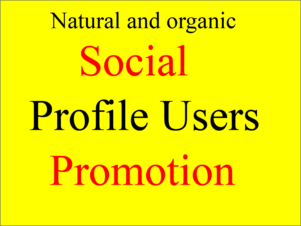 Get Instant Organic Social Users Promotion