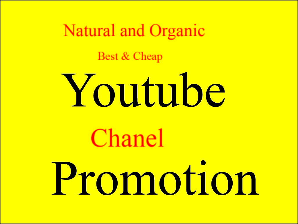 Instant Natural Manually Youtube Chanel Promotion Social media marketing