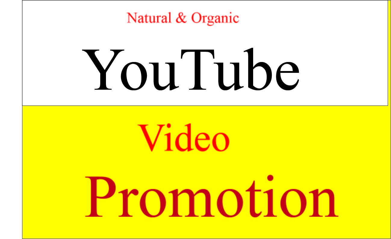 Get Fast Top HQ Natural YouTube video promotion & Marketing