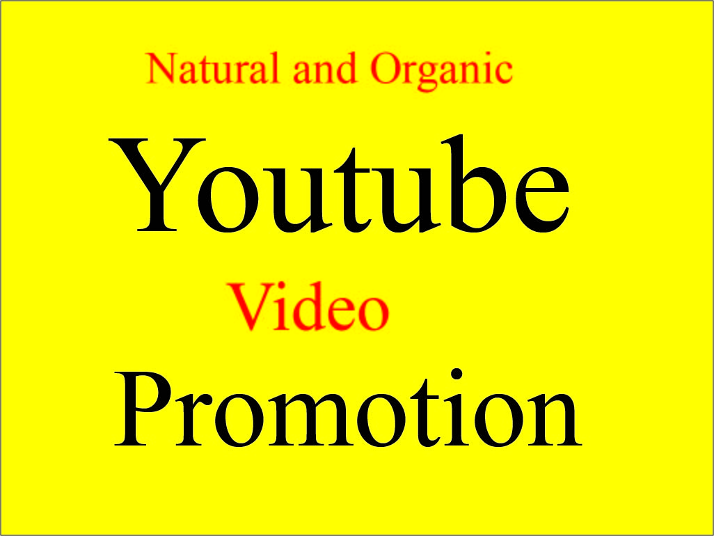 Organic Youtube Package Promotion By Social media Marketing