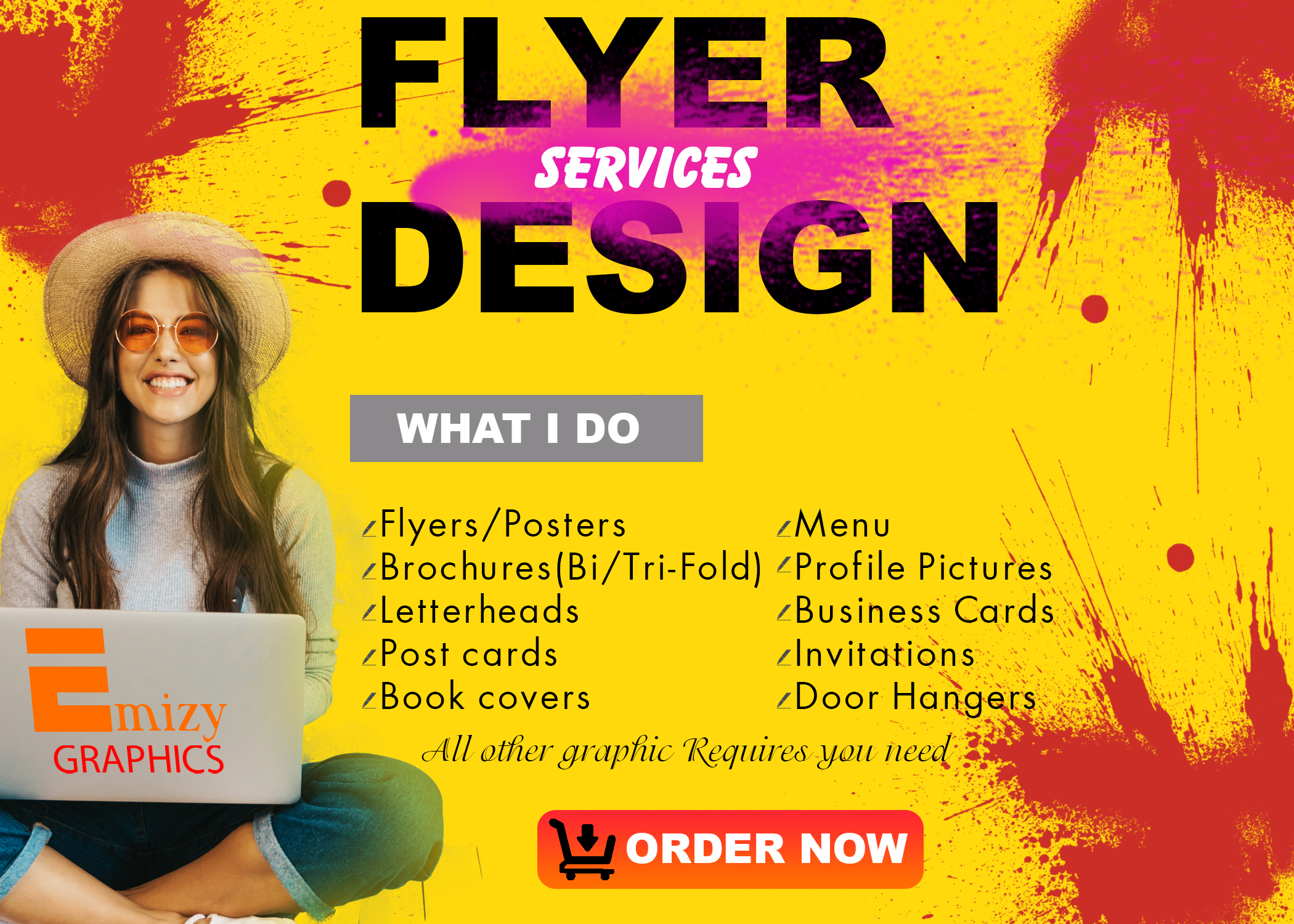 Creating Eye catching flyers, Brochures & All Graphics