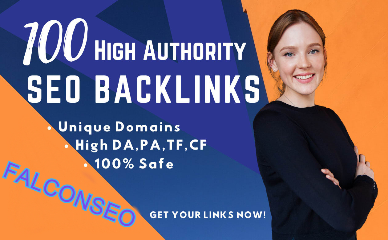 Manually Build 100 Plus High Quality High DA,  CF,  PA,  TF SEO Backlinks