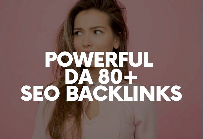 I will Do 40 Powerful high DA80+ SEO Backlinks Manually