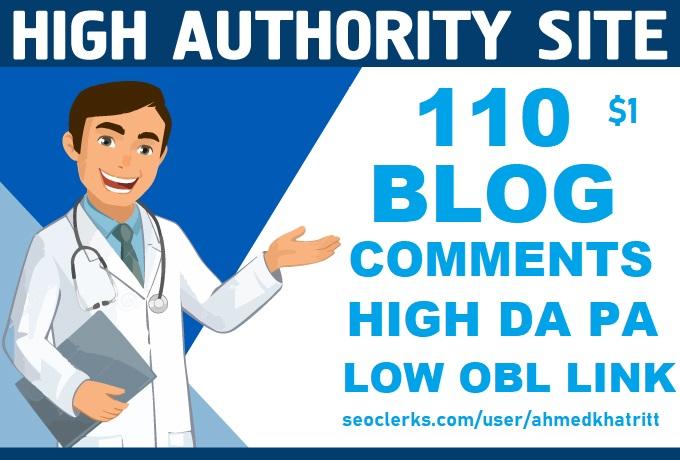 DO MANUALLY 110 Blog Comments High Da Pa backlinks