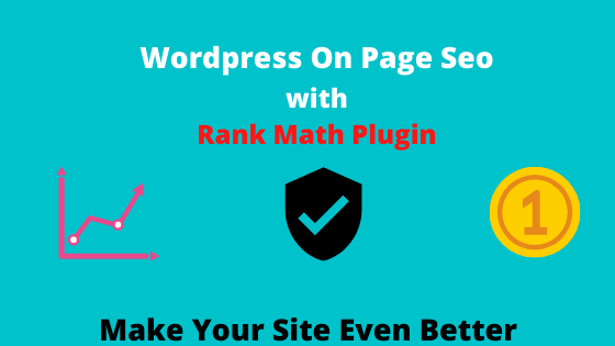 I will do On Page Optimization of your WordPress Website Using Rank Math Plugin