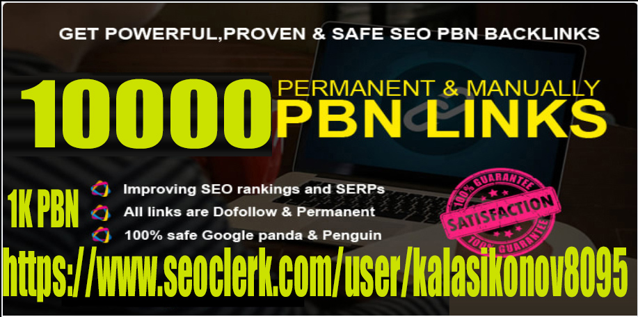 Get 10000+ powerful and safe PBN Backlink HIgh DA/PA with DA 70+ PA 80+ with unique website