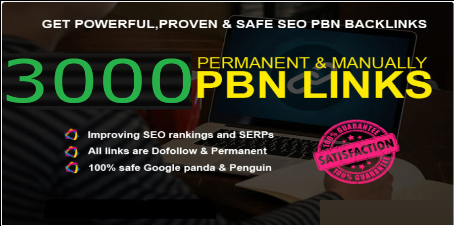 GET 3000+ SUPER quality PBN BACKLINK with high DA/PA in your webpage with UNIQUE website