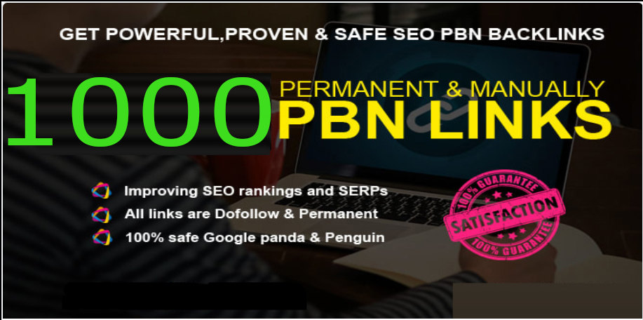 Get powerfull 1000+ pbn backlink with high DA/PA/TF/CF on your homepage with unique website