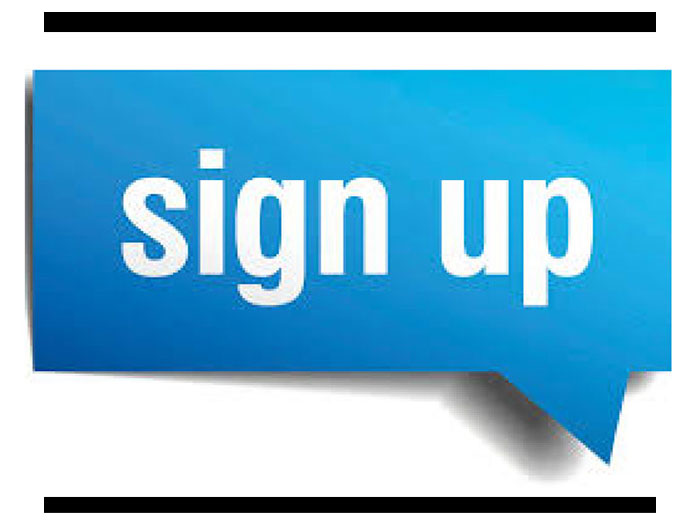 Give you 75 signup,  sign ups,  referrals,  register or registration for your website