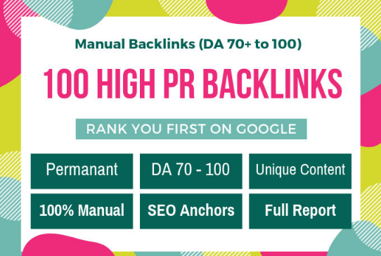I will Create 100 Pr9 Dofollow SEO Backlinks For Best google Rank Your Website
