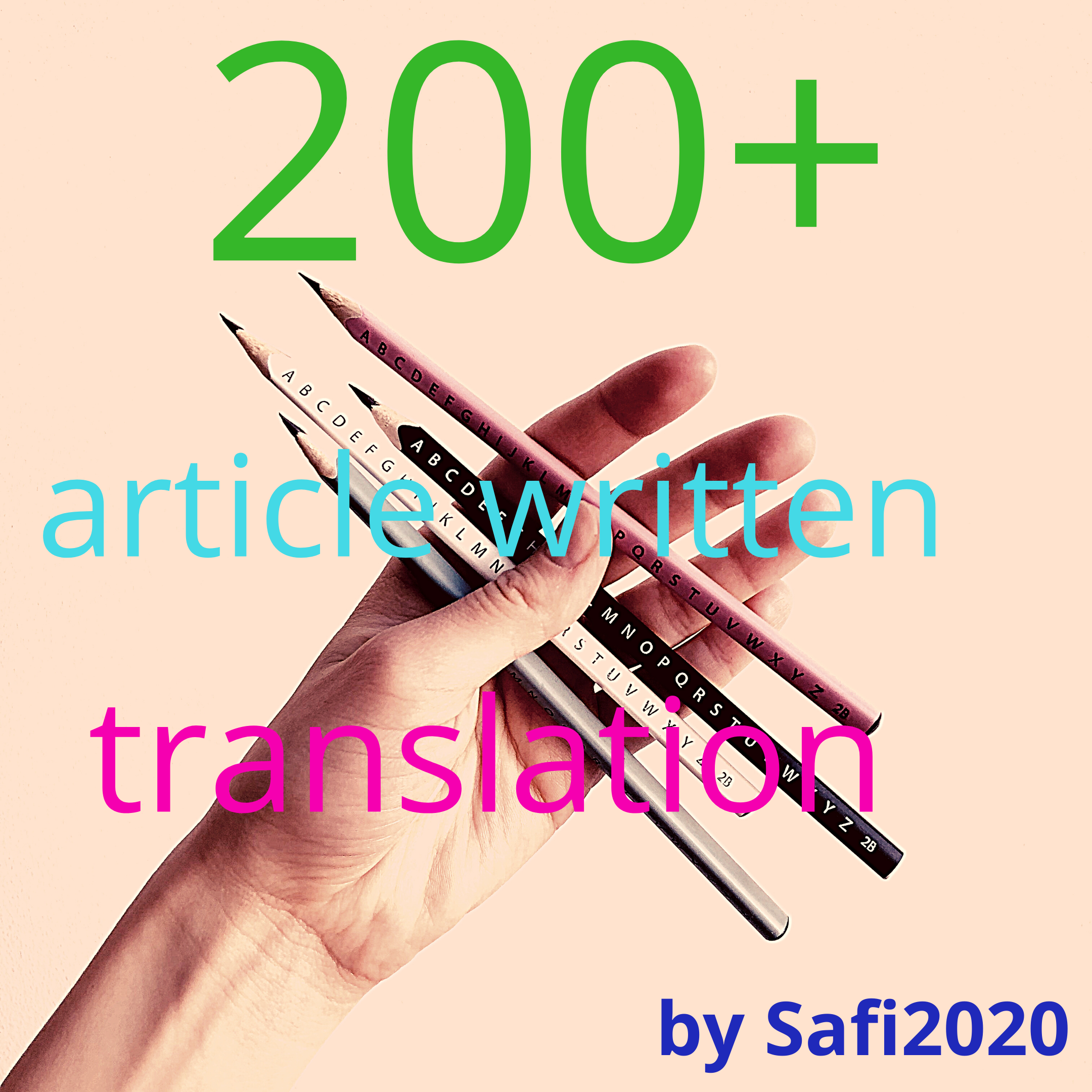 Get article written and translation