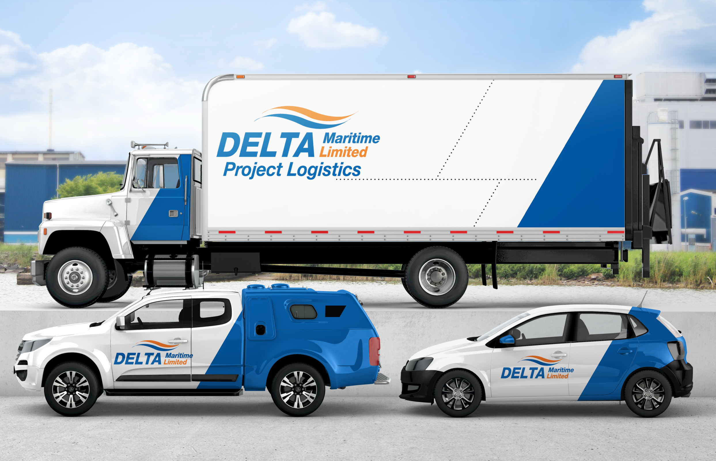 I will put your logo on 3d car,  truck,  van or vehicle wrap design mockup