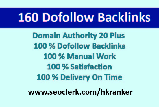 I will provide 160 high quality dofollow blog comment backlinks