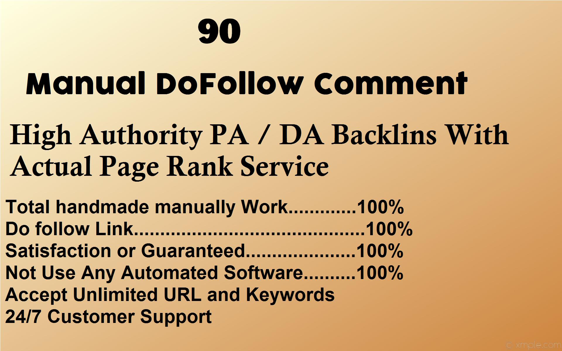 i will create Munually 90 High DA/PA Backlinks Blog Comment