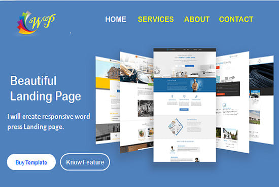 I will design high quality responsive landing page