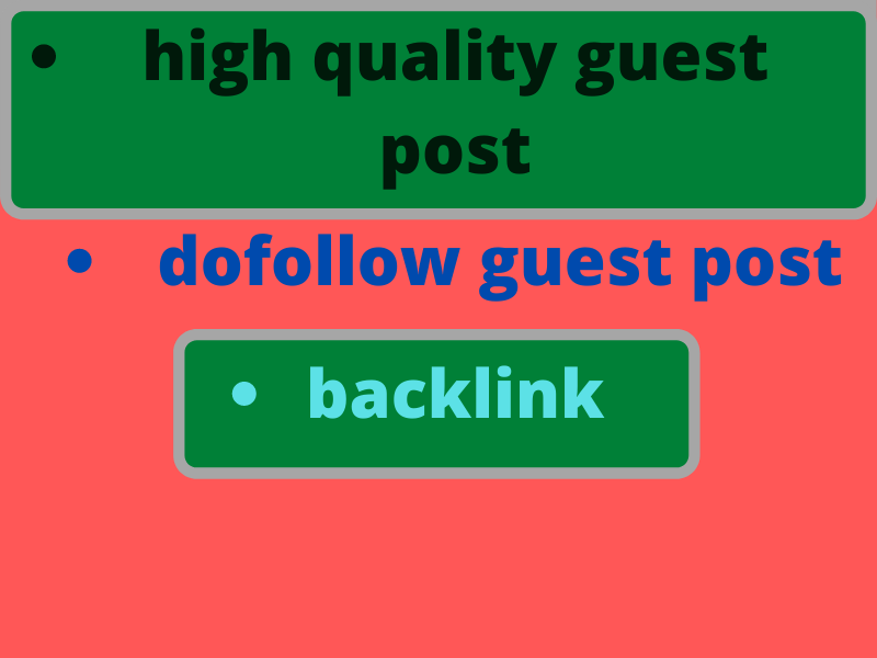 Will create and provide high quality guest post and backlink to rank your website on google.