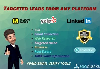 Target B2B Leads and valid data from any platform