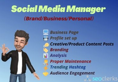 Expert Social Media Manager to boost your Personal and Business presence