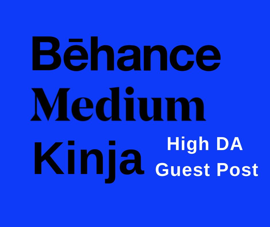 i publish 3 Guest Post On Da 90+ Websites With Backlinks