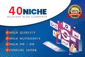 I will do 40 high quality niche relevant blog comment backlinks