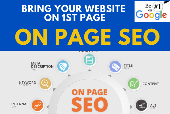 Complete Onsite SEO & Research,  On Page SEO with reporting